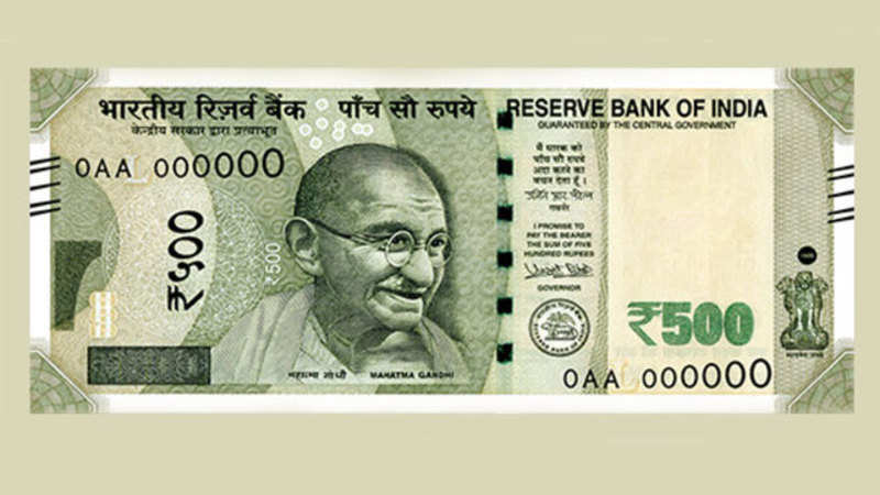 Security features of a genuine Rs 500 currency note - The Economic Times