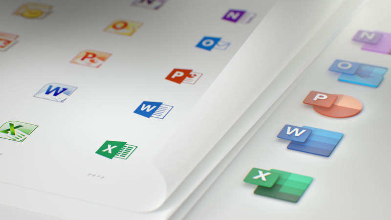 Microsoft Office icons on Windows get a new look - The Economic Times