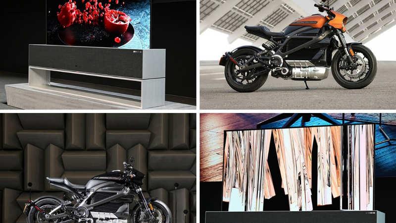 ces 2019: LG rollable OLED TV, HarleyDavidson Livewire: Jaw