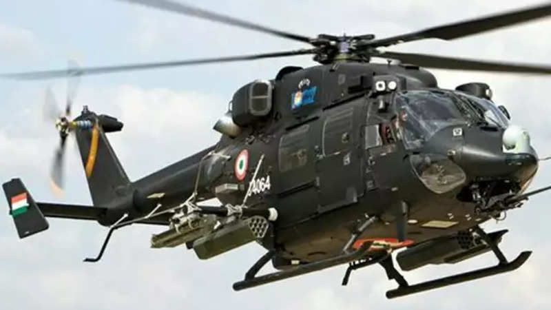 HAL built Rudra helicopter makes an emergency landing due to