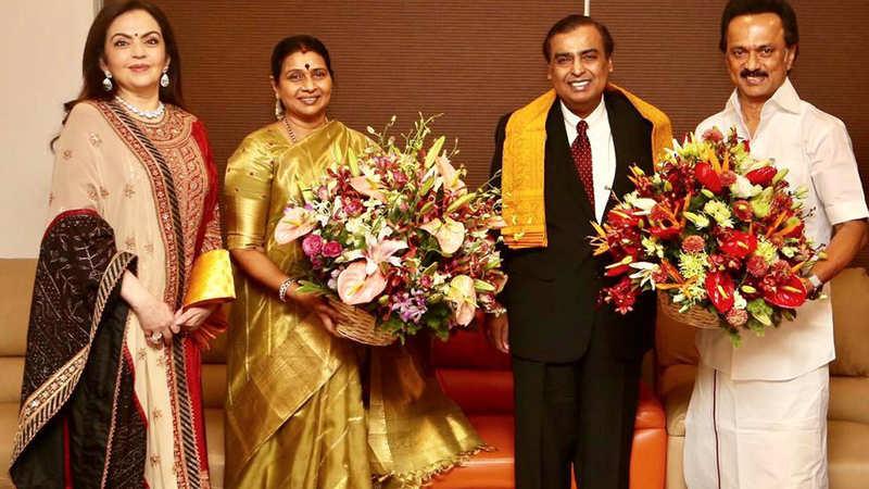 Akash Ambani Wedding Mukesh Ambani Wife Nita Meet Mk