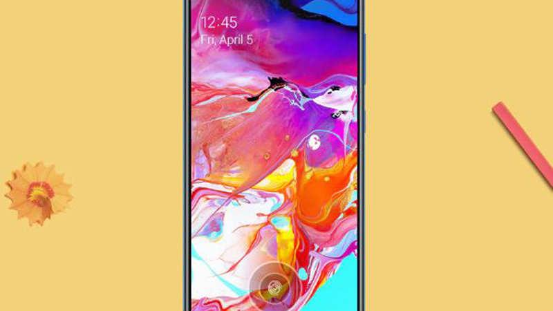 samsung galaxy a70: Samsung Galaxy A70 with AR-Emoji, Selfie