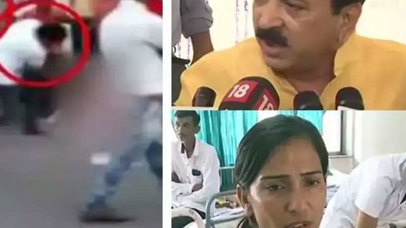Gujarat BJP issues show-cause notice to MLA for kicking woman - The