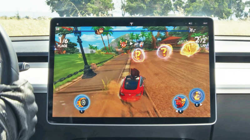 Bored while charging your e-car? Tesla Arcade is here to