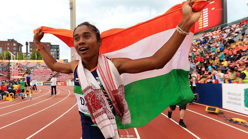 hima das: Hima Das returns to 400m run, grabs 5th gold in July - The