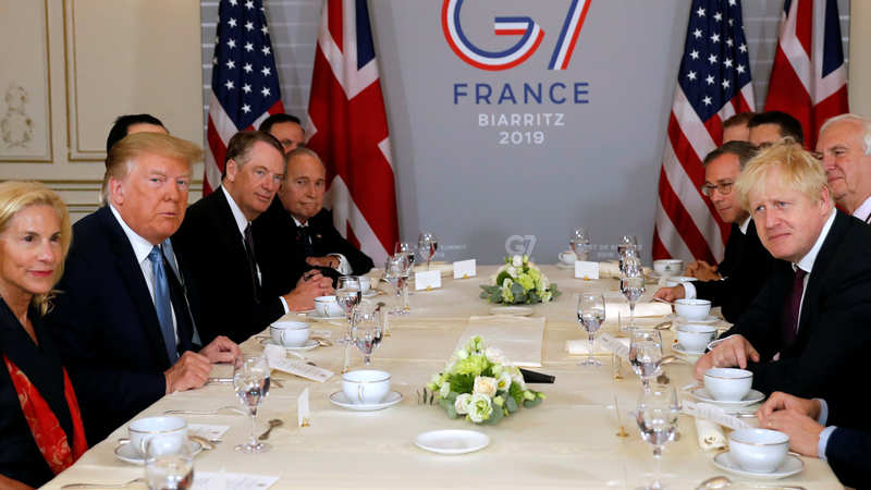 Image result for images of TRUMP AT G7 FRANCE