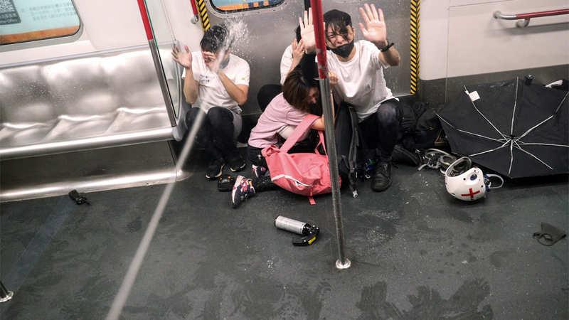 Hong Kong protesters disrupt airport but planes still taking