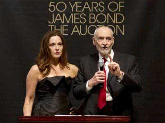 bf48178057 Bond film producers Barbara Broccoli and Michael G Wilson attend the 50  Years of James Bond Auction at Christies in London, October 5, 2012.  REUTERS. '