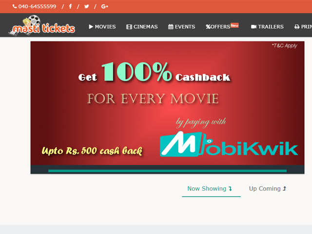 Best site to book movie tickets in india