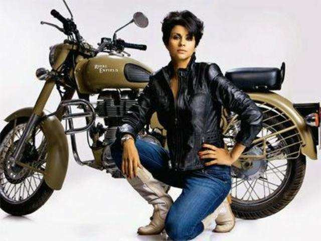 Women overcoming the gender stereotype by riding Bullet 856e31035