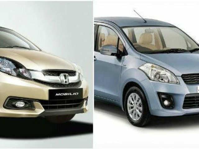 Specs Review Honda Mobilio Vs Maruti Ertiga The Economic Times