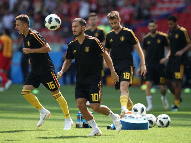 63520f9c8 Lukaku and Hazard score two each in Belgian rout - The Economic Times
