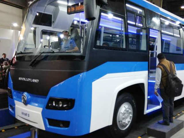 Auto Expo 2018 Ashok Leylands New Electric Bus May Turn Focus To