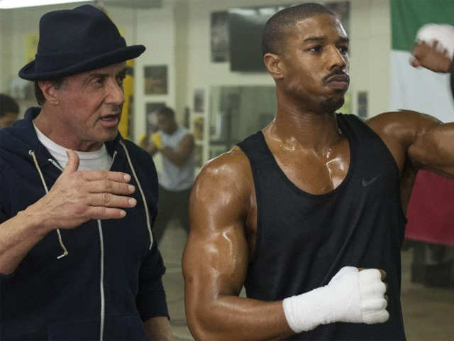 f9a7cb3b Co-star revelry: Sylvester Stallone posts throwback video with Michael B.  Jordan