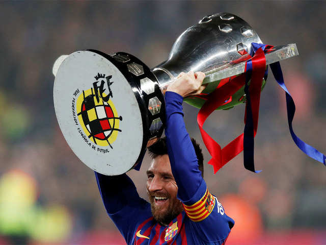42e85f0bcae Messi increases iconic status at Barca with 10th La Liga crown - The ...