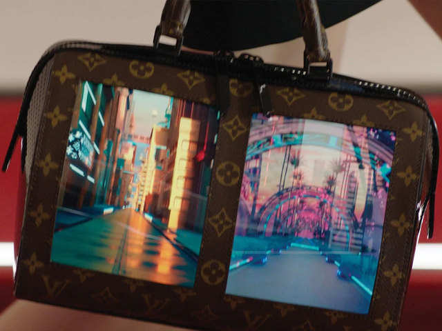 5d5f899bbddd6 Canvas of the future  Louis Vuitton showcases handbag with built-in  flexible screen