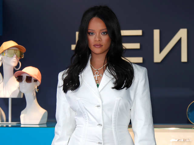 18577f5547df1d Rihanna makes history, unveils first designs by fashion brand Fenty in  Paris store