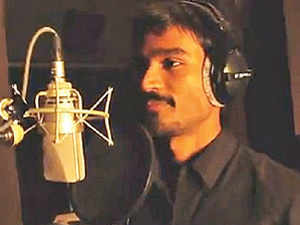 Actor Dhanush in the song clip.