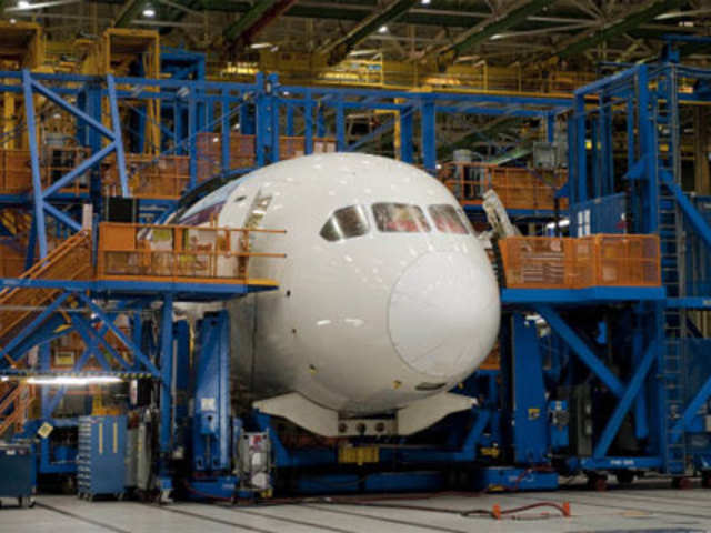 Boeing 787 Dreamliner's production facility in Everett