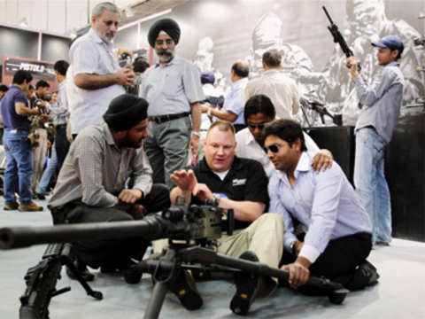A foreign exhibitor at Defexpo 2012
