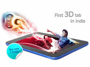 """California-based Swipe Telecom today launched a range of tablets here, including the country's """"first 3D tablet""""."""