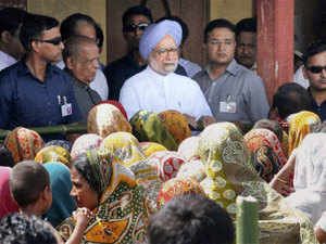 Manmohan Singh in violence-hit Assam to take stock of the situation