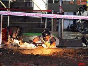 Low intensity blast near Mcdonald, Jangali Maharaj road in Pune. (BCCL)