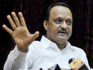 Deputy Chief Minister Ajit Pawar of NCP speaks at a press conference to announce his resignation as the Deputy Chief Minister of Maharashtra in Mumbai on Tuesday. PTI Photo