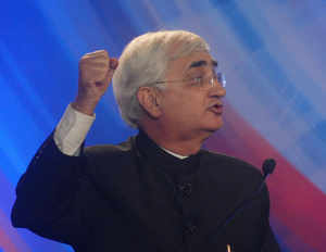 "Dismissing Mamata Banerjee's criticism of Government, Law Minister Salman Khurshid today said the remarks were directed to please her constituency and made it clear that UPA-II was determined to ""move on""."
