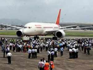 Air India Dreamliner, carrying 127 passengers, suffered a bird hit while landing at the Bangalore airport this morning.