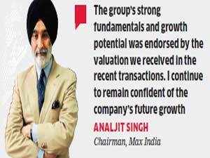 """""""The group's strong fundamentals and growth potential was endorsed by the valuation we received in the recent transactions,"""" Singh told ET."""
