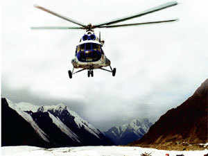 Helicopter flight at high altitudes is problematic, as rotors produce less lift than at lower levels where the air is thicker.