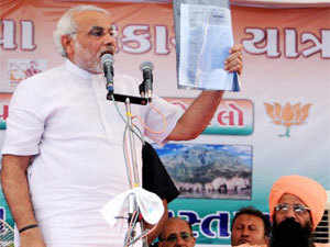 On Congress MP from Porbandar Vitthal Radadia brandishing a gun at a toll booth, Modi said Congress has taken no action so far against Radadia for his act.