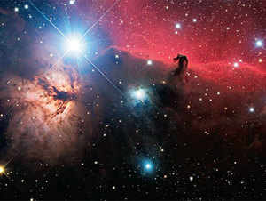 A dying star produces a stream of gas and dust, which removes as much as half of its mass. I