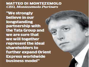 """""""We strongly believe in our longstanding partnership with the Tata Group and we are sure that we will together represent the ideal shareholders to further expand Orient Express worldwide business model,"""" says Montezemolo."""