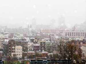 The National Weather Service said the latest storm, named Athena, was moving northward off the East Coast and would bring a wintry mix of precipitation to areas across the northern mid-Atlantic and northeast.