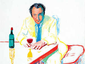 Portrait of Peter Langan in Los Angeles by David Hockney.