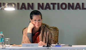 """Asking partymen to gear up for the next Lok Sabha polls, Congress President Sonia Gandhi today accused its opponents of attempting to grab power at any cost and called for an aggressive response to their """"false propaganda""""."""