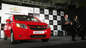 General Motors India today launched premium hatchback Chevrolet Sail U-VA here today at a price ranging between Rs 4.52 lakh and Rs 6.74 lakh. The car will be available in four variants in 1.2 litre petrol and three options in 1.3 litre diesel