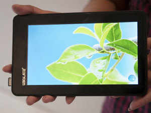 The new version 'Aakash 2' is now powered by a processor running at 1 GHz, has a 512 MB, a 7 inch capacitative touch screen and a battery working for three hours of normal operations.