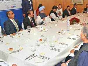 Representatives of India Inc from finance, telecom and manufacturing match wits with the who's who of the political spectrum but the spread isn't all that heavy.