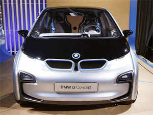 The BMW i3 Concept electric car is shown at the BMWi 'Born Electric' tour's visit to New York on November 13, 2012. (REUTERS)