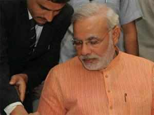 Gujarat Chief Minister Narendra Modi today indicated he will seek re-election from Maninagar Assembly constituency and asked BJP workers to work hard to ensure he wins the seat with a record margin.
