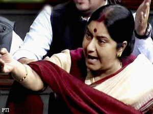 """Addressing a """"Agenda-Aaj Tak"""" programme organised by TV Today Group, Singh lavished praise on Sushma, saying it's her """"right"""" to be the contender of Prime Minister's post."""