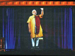 Modi's hologram 3D avatar a major attraction along with the interest generated by fight between 3 fronts, and 3 former CMs.