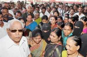 The BJP government in Karnataka was on the edge of a precipice on Sunday after former chief minister BS Yeddyurappa got 13 MLAs to come out in the open to back his Karnataka Janata Party.