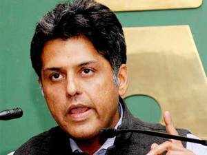 """Manish Tiwari alleged that the state BJP government has created """"crony capitalists,"""" not the 'new middle class' as it has been claimed."""