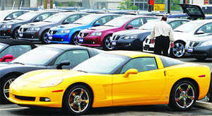 This is the first time in more than a decade that the passenger car market, which excludes utility vehicles, has declined in the festive season for two consecutive years, industry experts say.