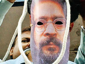 The home ministry disposed Ajmal Kasab's mercy plea within 10 days, but home minister Sushil Kumar Shinde has said he would look at the file of the Parliament attack accused Mohammad Afzal Guru only after the Parliament session concludes.