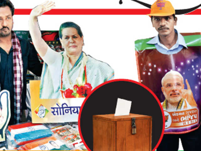 Just a day before Gujarat goes to polls, Brand Equity gets a ringside view of the thrust and parry of electoral advertising.With its live streaming speeches, holographic projections and attempts to woo the urban middle class, chances are elections will never be the same again after Gujarat 2012